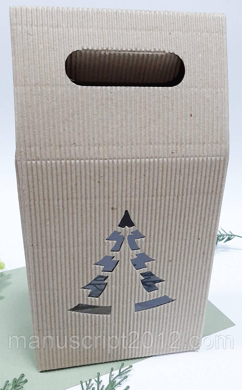 Коробка с елкой 160х200х80 мм. (общая высота 300 мм.)
