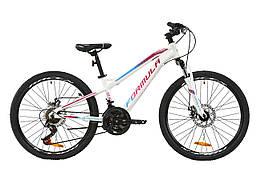 """Велосипед AL 24"""" Formula BLACKWOOD 2.0 AM DD 2020 (бело-фиолетовый с голубым (м))"""