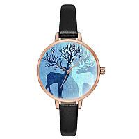 Минималистические часы с оленем 7475212-3 (41079)