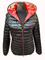 Куртка женская черная демисезонная короткая