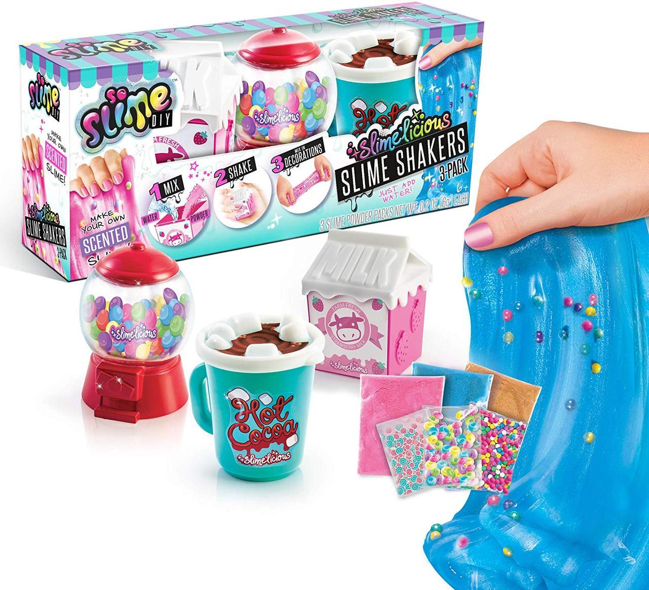 Набор 3 ароматных слайма с добавками. Canal Toys USA So SlimeSlime'licious. Оригинал из США