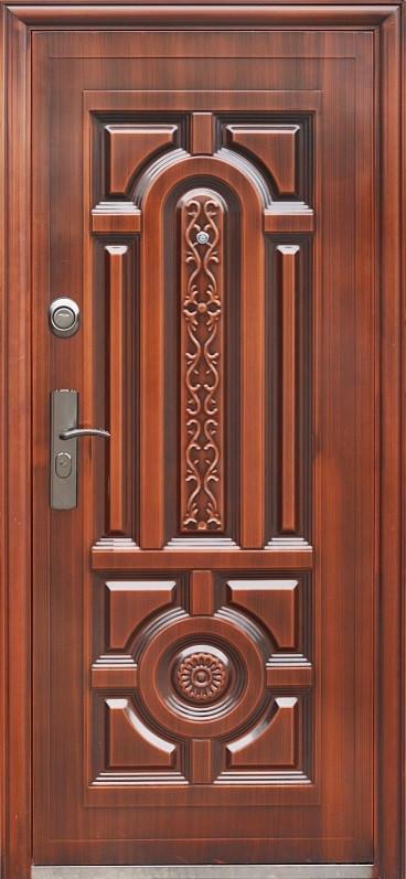 Китайские уличные  входные двери ААА 027 автолак медь