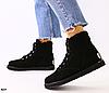 Ботинки УГГИ женские черные из натуральной замши