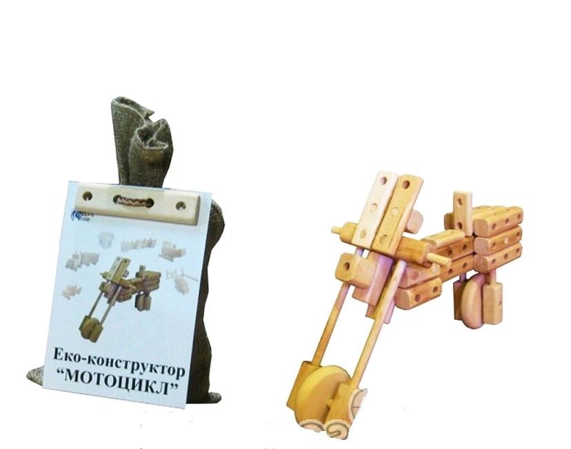 """Эко-конструктор """"Мотоцикл"""" деревянный, Ind-BIKE"""