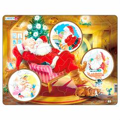 Пазл рамка-вкладыш Дед Мороз Lasren серия Макси (JUL2)