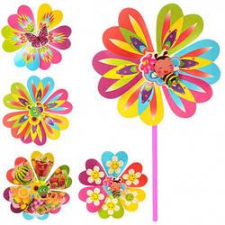 Ветрячок, размер средний, цветок, диаметр 22см, палочка 28см, M 0804