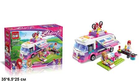 """Конструктор """"Brick"""", """"Cherry"""", пикник, автобус, фигурки, 319 дет, 2004"""