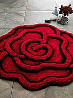 Изысканный Коврик для ванной в форме розы Confetti Afrodis красный CB36