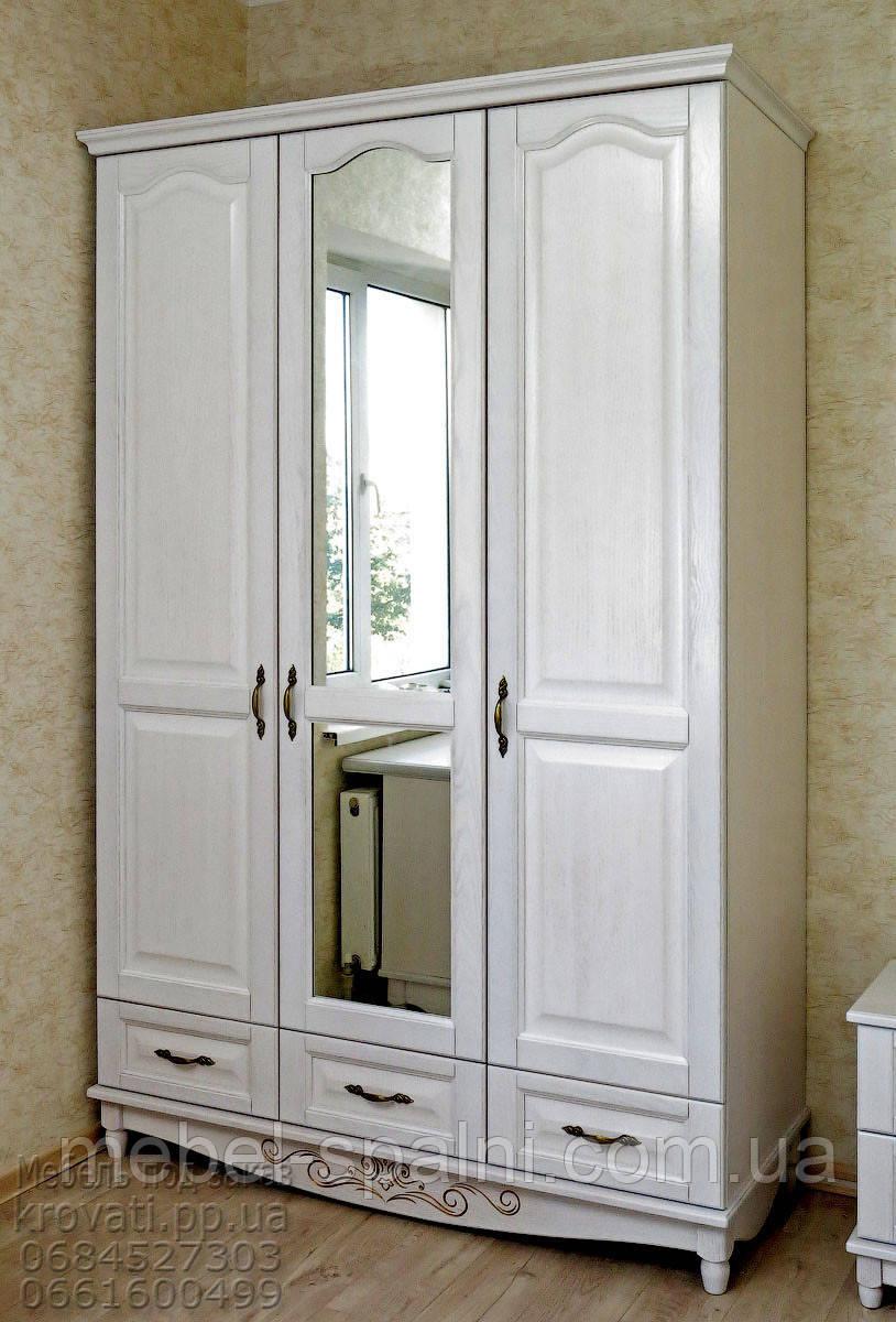 Шкаф деревянный с зеркалом для одежды sh01