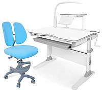Комплект парта Evo-kids Evo-30 G + кресло Y-408 Blue