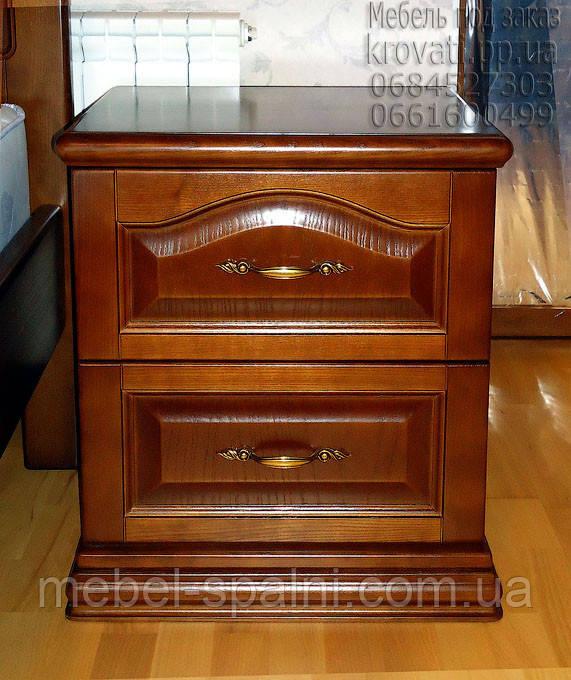 Тумбочка прикроватная деревянная  с филёнкой и фрезерованным цоколем  8.2