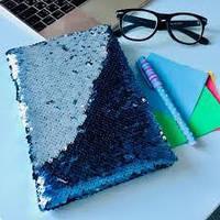 Ежедневник Блокнот с пайетками  меняет цвет А6 80л.( дизайны микс).