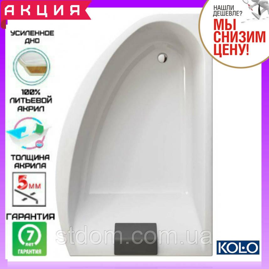 Акриловая асимметричная ванна 170x110 см Kolo Mirra XWA3370001 правая