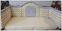 Защита бортики (бампер)в детскую кроватку. Веселка.