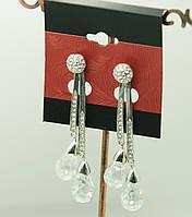 Серьги Сваровски, сережки со Swarovski. 61