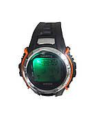 Часы электронные Gasanng с подсветкой оранжевый, фото 2