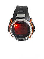 Часы электронные Gasanng с подсветкой оранжевый, фото 3