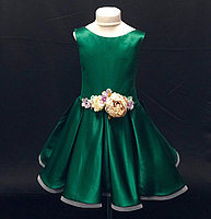 Нарядные детские атласные платья на 4-5, 6-7 лет