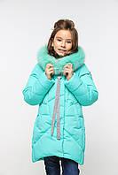 Детское зимнее пальто на девочку Офелия 4, с мехом песец 28-34.42р