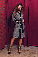 Женское платье на пуговицах с поясом.Размеры:42-46.+Цвета, фото 1