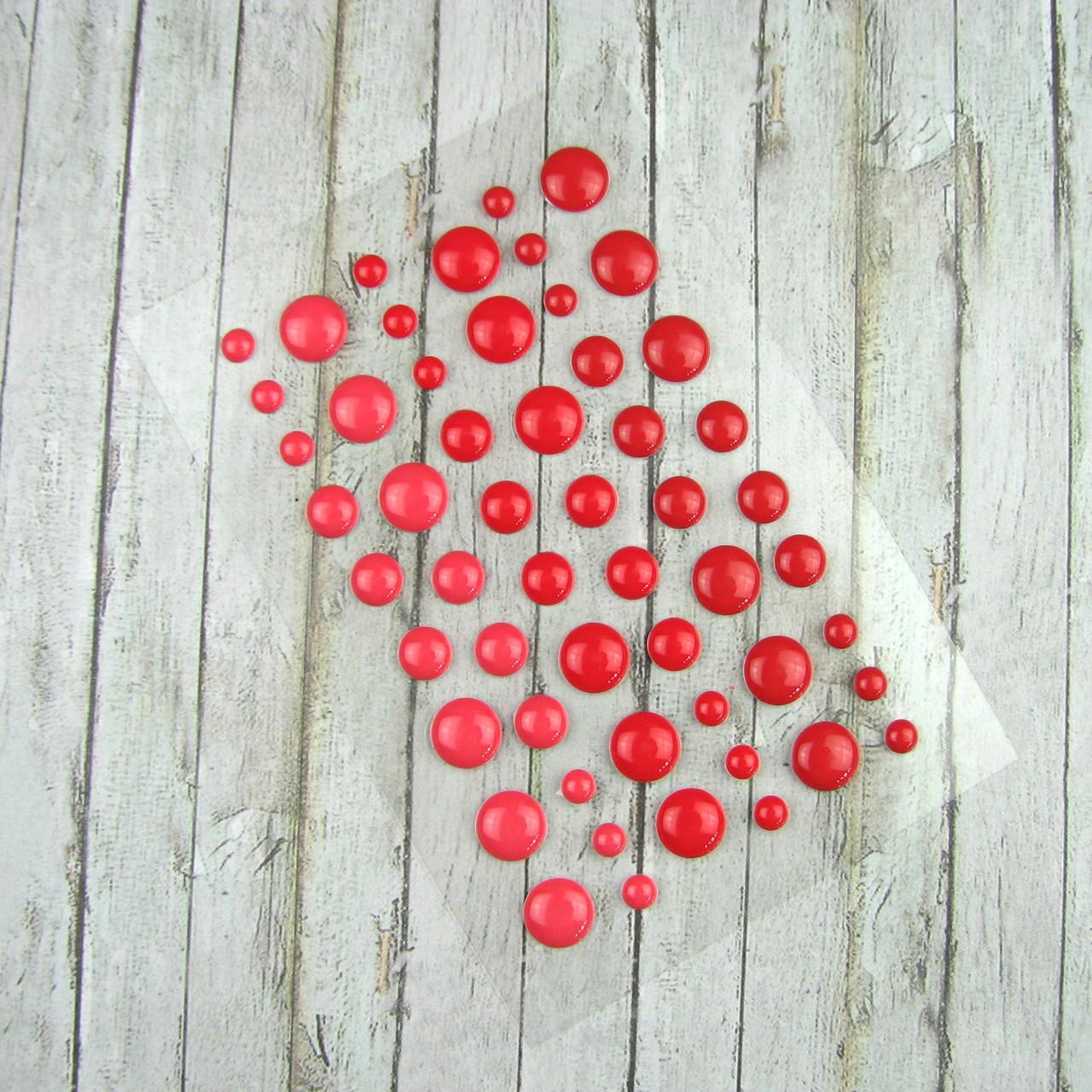 Дотсы для рукоделия красные 1 планшетка