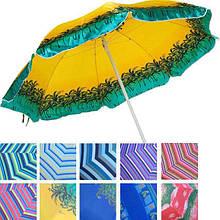 Пляжный зонт с защитой от ультрафиолета ANTI-UV (12 расцветок)