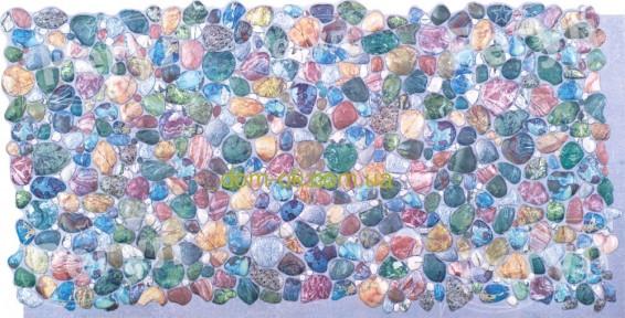 Декоративні панелі ПВХ Регул Галька зелена - 80 ГАЛ