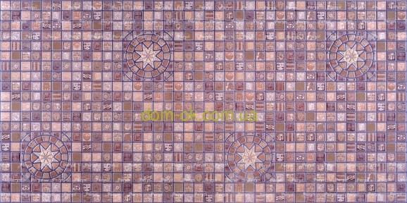 ПВХ панель стінова Регул Медальйон фіолетовий - 33 Ф