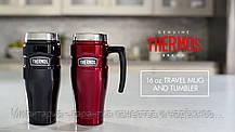 Термокружка Thermos Stainless King Travel Tumbler, 470 ml (160023) черный, синий, красный, фото 3