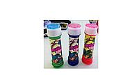 Мыльные пузыри в бутылочках, сверху игрушка: ''Лабиринт с шариком'' 10,5 см .