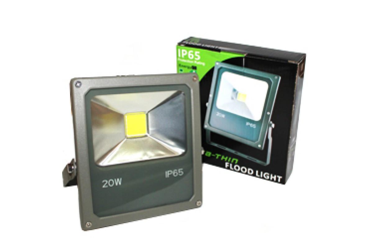 Лампочка LED LAMP 20W Прожектор Black IP65