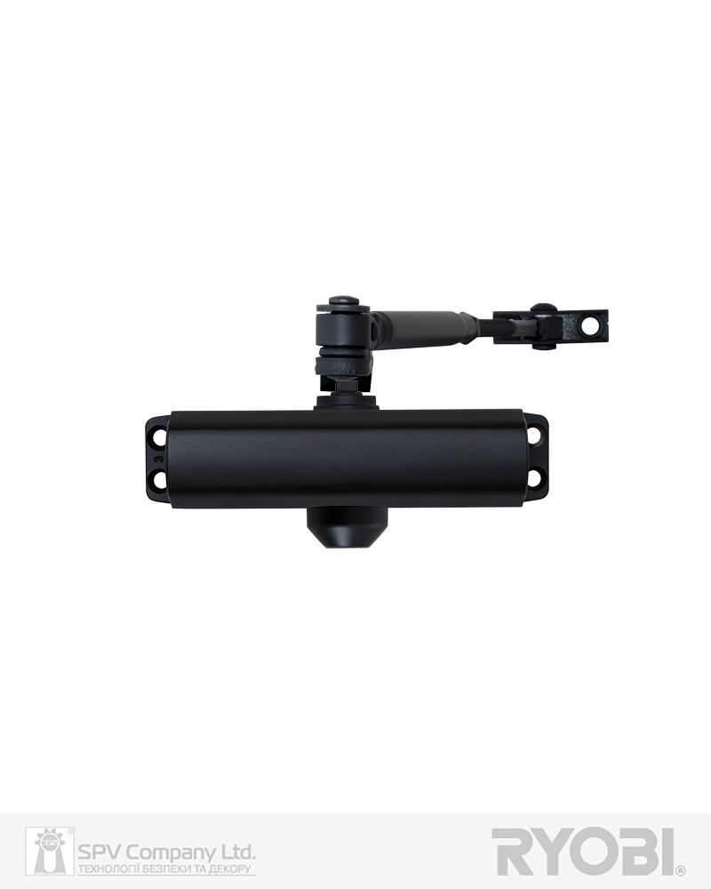 Темный доводчик на дверь RYOBI 9900 9903 черный STD ARM EN 2/3 до 65 кг 965 мм