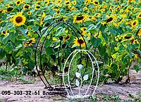 Роза-2, подставка для цветов на 3 чаши, фото 1