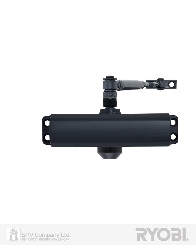 Накладної доводчик дверний RYOBI 9900 9903 антрацит сірий STD ARM EN 2/3 до 65 кг 965 мм