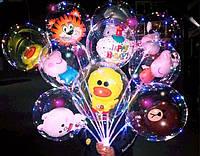 Светящиеся шары. Светящиеся шарики с диодами, 3 режима свечения. внутри шарика в виде Мики Мауса с надписью