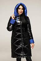 Пуховикженский зимний размерный ряд 44-54 размеры данной модели - теплый модный женский пуховик Черный