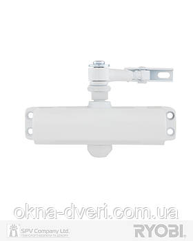 Доводчик накладной  дверной RYOBI 9900 9903 белый STD ARM EN 2/3 до 65 кг 965 мм