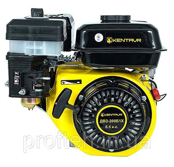 Бензиновый двигатель Кентавр ДВЗ-200Б1Х (6,5 л.с, шпонка Ø20мм, L=50 мм, редуктор) + доставка