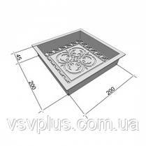Форми для тротуарної плитки Антик Візерунок 200х200х45 мм Верес 1 шт, фото 2