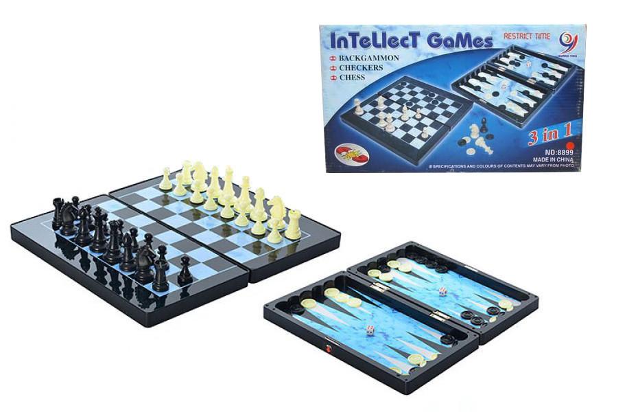 Настольная игра Шахматы 8899 магнитные, 3в1,, настолка, подарок