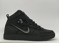 Ботинки мужские зимние кроссовки Nike Epic Crips NM 16162 черные реплика