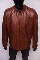 Куртка мужская кожзам Angel 331 коричневая