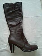 Сапоги женские каблук 7см кожа