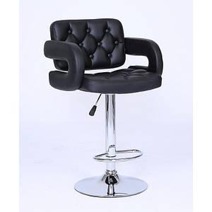 Барное кресло Винчи (BS-12335B), Черное, стул визажиста
