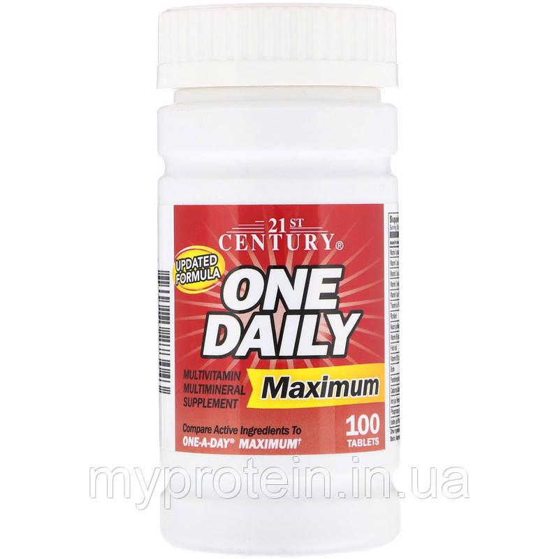 21st Centuryкомплексные витаминыOne Daily Multivitamin Maximum100 tabs