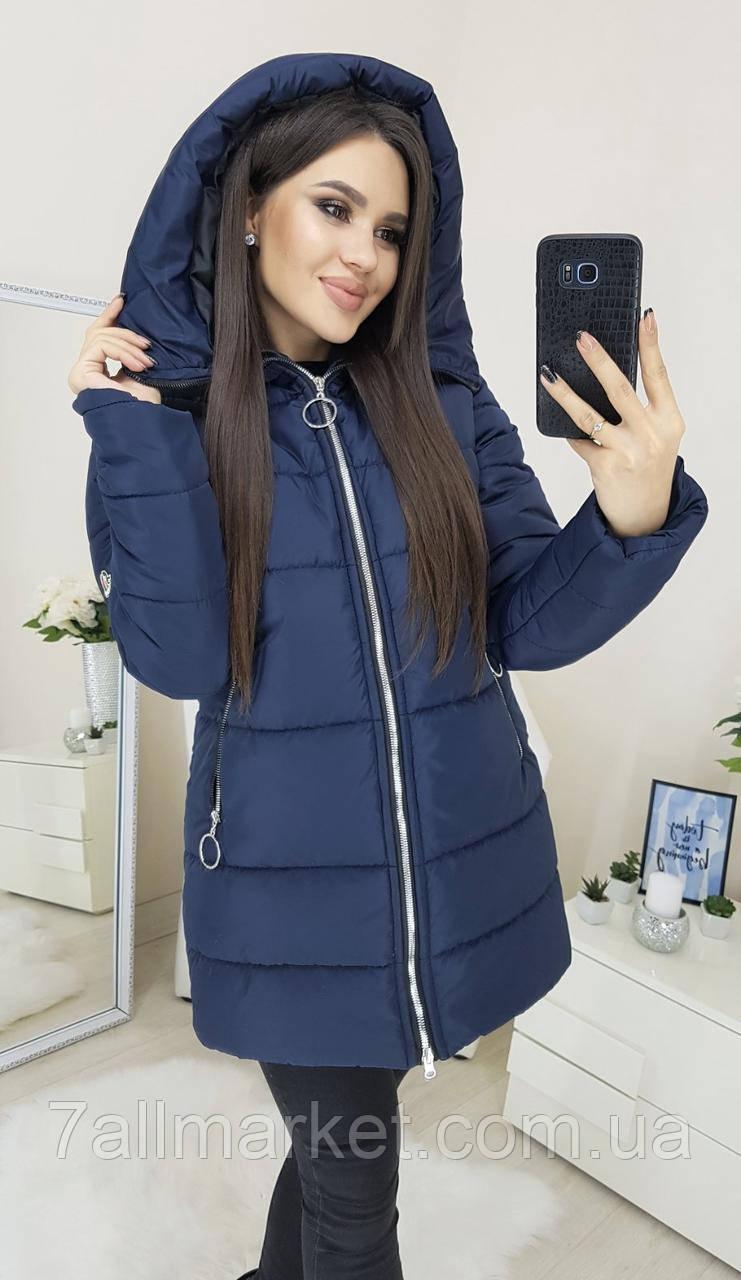 """Куртка женская зимняя на холлофайбере, размеры 42-48 (2цв) """"BONJOUR"""" купить недорого от прямого поставщика"""