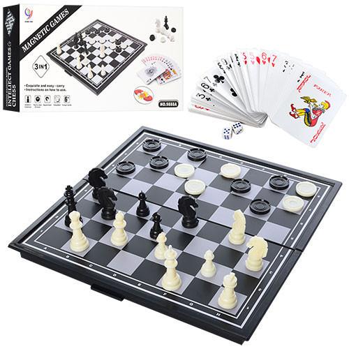 Настольная игра Шахматы 9888A магнитные 3 в 1, настолка, подарок