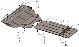 Захист картера двигуна і акпп Infiniti QX70 2013-, фото 2