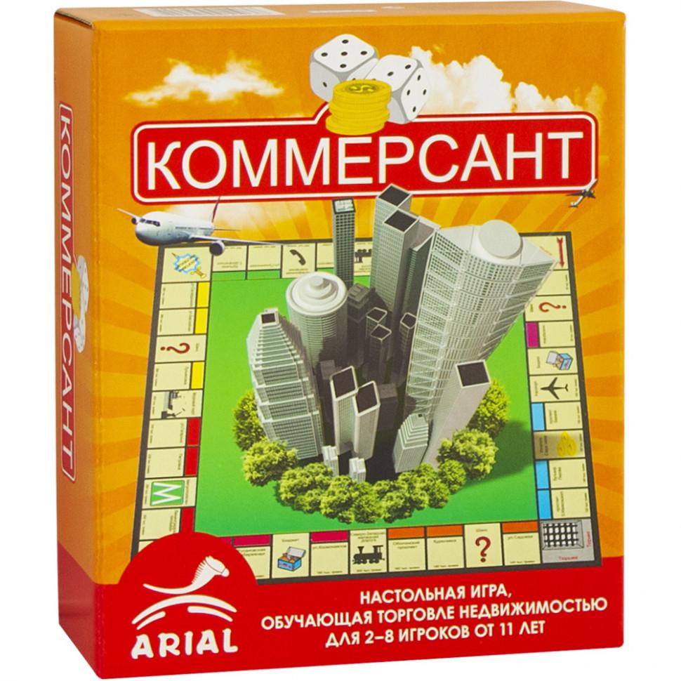 Настольная игра Arial Коммерсант 911036, настолка, подарок