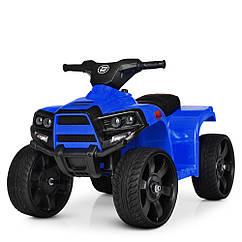 Детский электромобиль Квадроцикл M 3893 EL-4, кожаное сиденье, колеса EVA, музыка, свет, синий